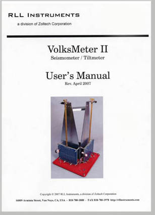 VolksMeter II User's Manual - Title Page