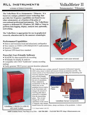 VolksMeter II Product Description Cover Sheet
